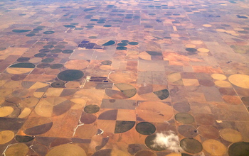cropping patterns over north Texas