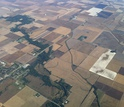 aerial view of the Intensively Managed Landscapes CZO site in Illinois-Iowa-Minnesota