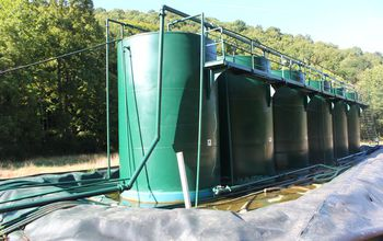 Wastewater tanks at a spill site in West Virginia.