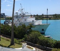 The vessel Atlantic Explorer, used in the study, just before a research cruise to Barbados.