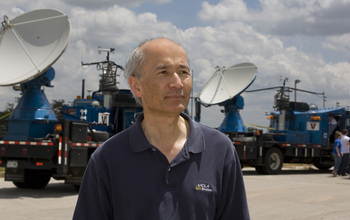 Roger Wakimoto, NSF Assistant Director for Geosciences, in the field conducting tornado research.