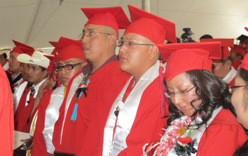 Students during graduation ceremony at Navajo Technical University