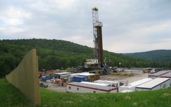 Photo of unconventional shale gas well site northeastern Pennsylvania.