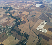 Scientists at the NSF Intensively Managed Landscapes CZO in the Midwest often work with farmers.