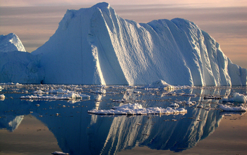 An iceberg in the Ilulissat fjord, Greenland.