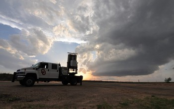 Atmospheric scientists collect rapid-scan data from a tornado in Texas in May, 2015.