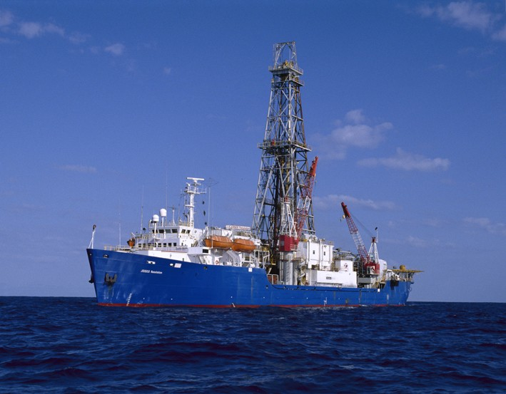 The current ocean drilling ship, <i>Joides Resolution</i>
