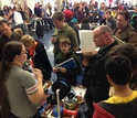 Attendees at the NoVa Mini Maker Faire