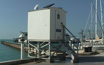 Tide-measuring station at Key West, Florida