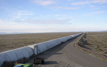 Northern arm of the LIGO interferometer on Hanford facility in Richland, Washington
