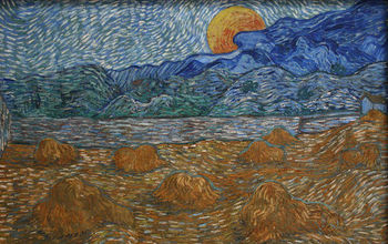 "Vincent van Gogh captured landscapes and air flow in ""Landscape with Wheat Sheaves and Rising Moon."""