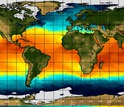 world map showing sea surface temperatures