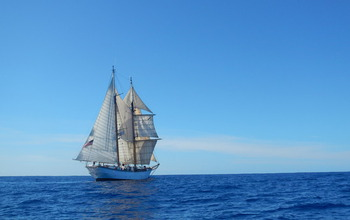 A tall ship research vessel