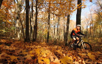 Mountain biking is part of New England's outdoor recreation; land conservation helps this sector.