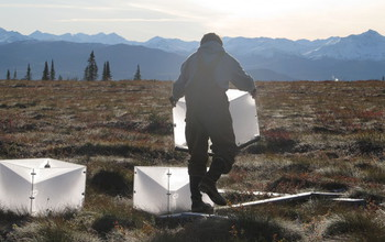 Field researcher in Alaska