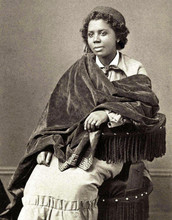 Sculptor Edmondia Lewis (1844-1907) was the first woman of African- and Native-American descent to achieve notoriety in the fine arts world. She spent most of her career in Rome.  Credit: Henry Rocher – National Portrait Gallery, Smithsonian Institution, Public Domain