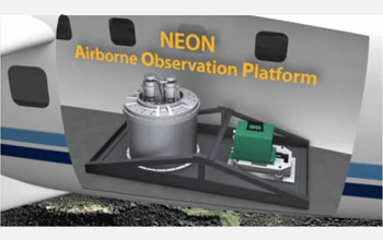 Graphic of the NEON airborne observatory platform.
