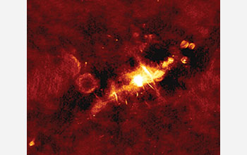 The center of our Milky Way galaxy is only clearly visible to radio telescopes