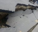 road cracked following the Nepal quake