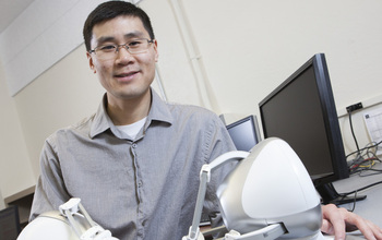 Henry Fu with simulation device