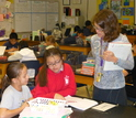 Sixth-grade science students at work at Lincoln Middle School in Alameda, Calif.