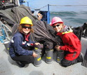 NSF California Current Ecosystem LTER site scientists deploy a zooplankton sampling system.