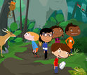 Plum Landing's five animated characters explore a jungle in Borneo.