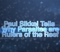 Video slate with text Paul Sikkel Tells why parasites are rulers of the reef