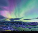 aurora borealis seen in Iceland