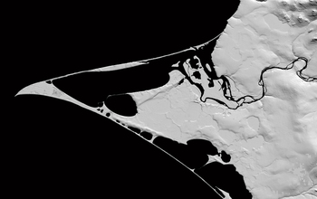 A Digital Elevation Model of Point Hope Alaska.