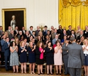 teachers and President Obama