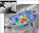 sea floor bathymetry of the study area of the Deepwater Horizon spill