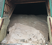 Road salt kept in a storage facility in Washington, D.C.