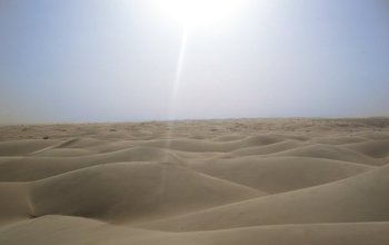 View of the sands of the Sahara Desert.