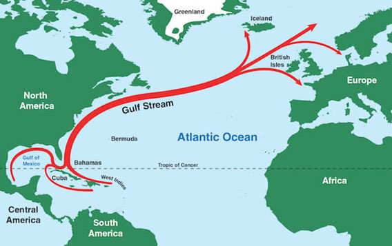 Scientists have revealed links between the migrating Gulf Stream and warming ocean waters.