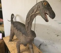 A sculpture of the baby Rapetosaurus