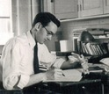 Thomas M. Devlin as undergraduate student at his desk