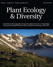 cover of publicationplant ecology and diversity