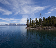 California's Lake Tahoe, an ancient lake, is an example of an oligotrophic, or low nutrient, lake.