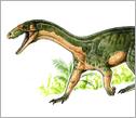 An artist's rendering of <em>T. rhadinus</em> in its ancient habitat.