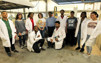Student collaborators in the laboratory of Vijaya Rangari at Tuskegee University.