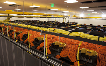 Over a dozen miles of cable help run key components of Yellowstone supercomputer