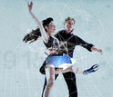 Male and female ice skaters.