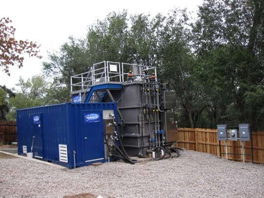 Image of a distributed water reclamation system in Golden, Colo.