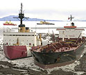 2 ships at McMurdo Station in January 2005