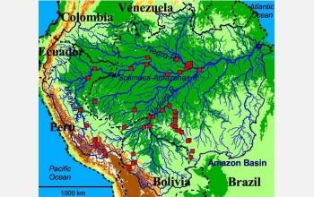 Multimedia Gallery Map Of Amazon River Sampling Site NSF - Amazon river map