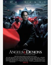 Publicity poster for Angels and Demons, a Ron Howard film, starring Tom Hanks.