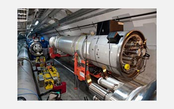 Photo of the 53rd and final replacement magnet for CERN's Large Hadron Collider (LHC).