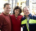 Photo of Adam Klaus, an IODP staff scientist, Carlota Escutia and Henk Brinkuis.
