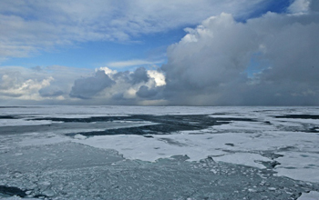 Arctic ice melt.